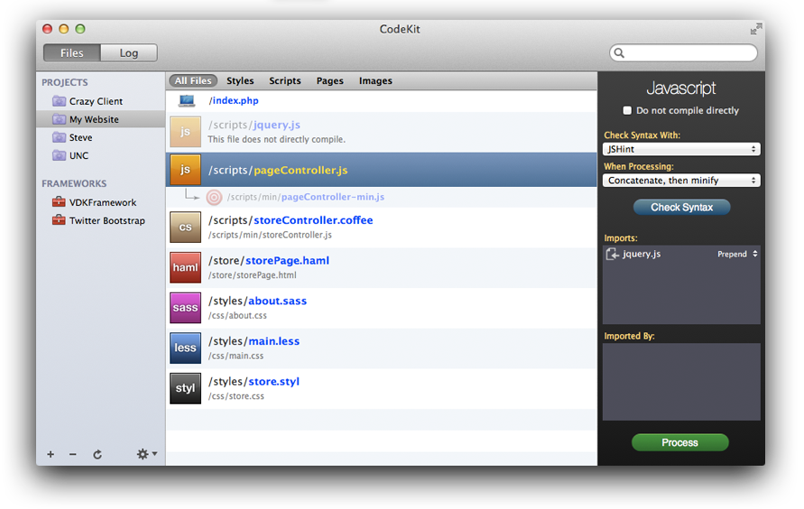 CodeKit Interface