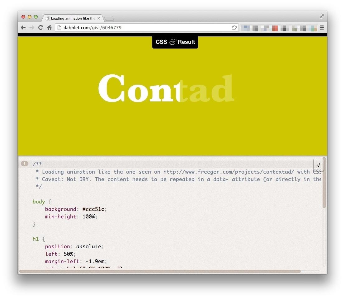 CSS Preloading | Starck Lin